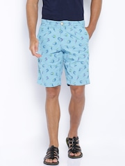 BAY ISLAND Blue Printed Shorts