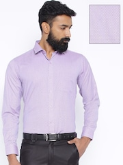 Four One Oh Purple Slim Casual Shirt
