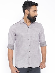 Four One Oh Purple Slim Fit Casual Shirt