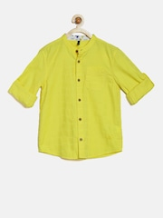 United Colors of Benetton Boys Yellow Casual Shirt