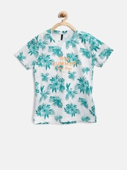 United Colors of Benetton Boys White Tropical Print T-Shirt