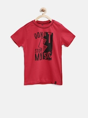 United Colors of Benetton Boys Red Printed T-Shirt