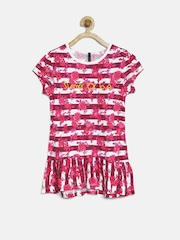 United Colors of Benetton Girls Magenta Floral Print Top