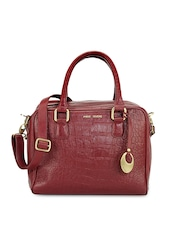 Phive Rivers Maroon Leather Handbag