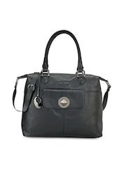 Phive Rivers Black Leather Shoulder Bag