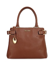 Phive Rivers Brown Leather Handbag