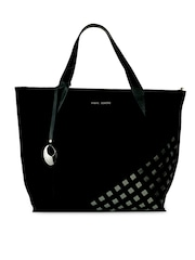 Phive Rivers Black Leather Handbag