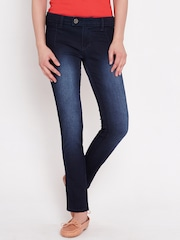 American Swan Navy Washed Slim Jeans