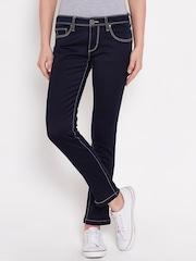 American Swan Navy Slim Ankle-Length Jeans