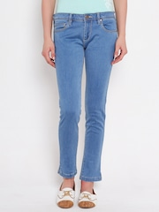 American Swan Blue Slim Ankle-Length Jeans