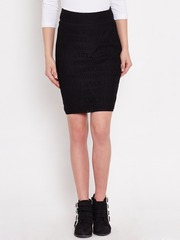 American Swan Black Lace Pencil Skirt