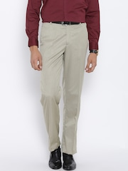 John Players Beige Formal Trousers