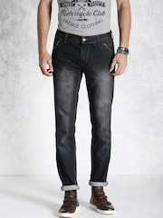 RDSTR Black Tapered Fit Jeans