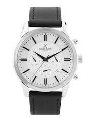 Daniel Klein Premium Men Silver-Toned Chronograph Dial Watch DK10718-7