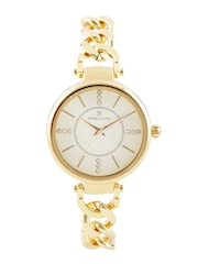 Daniel Klein Trendy Women Silver-Toned Stone-Studded Dial Watch DK10690-7