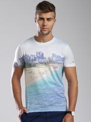 Tommy Hilfiger Blue & White Printed T-shirt