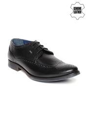 Lee Cooper Men Black Genuine Leather Semiformal Shoes