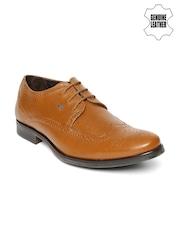 Lee Cooper Men Tan Brown Genuine Leather Semiformal Shoes