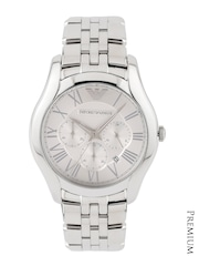 Emporio Armani Men Silver-Toned Chronograph Dial Watch AR1702