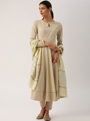 All About You from Deepika Padukone Cream-Coloured Dupatta with Brocade Border