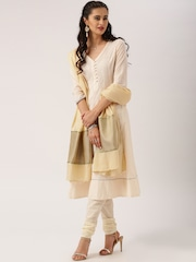 All About You from Deepika Padukone Beige Dupatta with Brocade Border