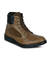 Kielz Men Tan Brown Boots
