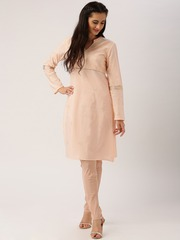 All About You from Deepika Padukone Peach-Coloured Crepe Churidar Trousers