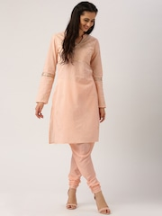All About You from Deepika Padukone Peach-Coloured Sushi Twill Churidar Style Pants