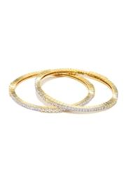 Sukkhi Set of 2 Gold & Rhodium-Plated Bangles