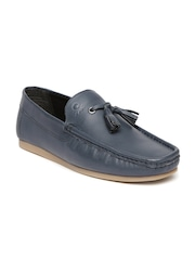 United Colors of Benetton Men Navy Leather Loafers