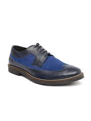 United Colors of Benetton Men Blue Leather Casual Shoes