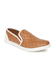 Knotty Derby by Arden Men Tan Brown Quilted Slip-Ons