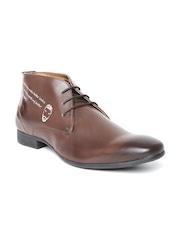 Knotty Derby by Arden Men Brown Semiformal Shoes