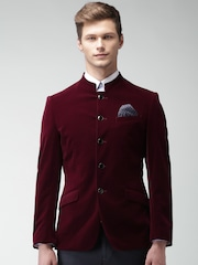 INVICTUS Maroon Slim Fit Formal Blazer