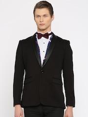 INVICTUS Black Single-Breasted Slim Fit Formal Blazer