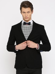 INVICTUS Black Slim Fit Single-Breasted Formal Blazer