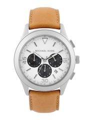 Michael Kors Men Off-White Chronograph Dial Watch MK8470I