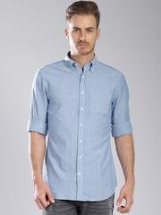 GANT Blue Striped Casual Shirt