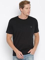 GANT Men Black T-Shirt