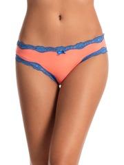 PrettySecrets Women Peach-Coloured Bikini Briefs PS0116RCRBKN02