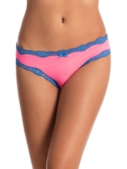 PrettySecrets Women Pink Bikini Briefs PS0116RCRBKN03