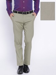 INVICTUS Dark Beige Slim Fit Formal Trousers