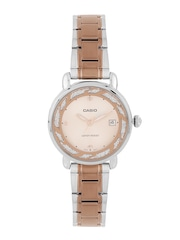 Casio Enticer Women Peach-Colured Dial Watch A1044