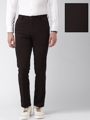 INVICTUS Burgundy Slim Fit Knitted Trousers