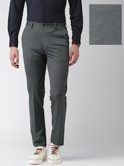INVICTUS Charcoal Grey Slim Fit Knitted Trousers
