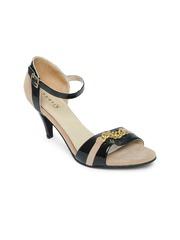 Bata Women Black & Beige Heels