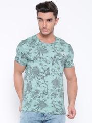 Ed Hardy Green Floral Print T-shirt