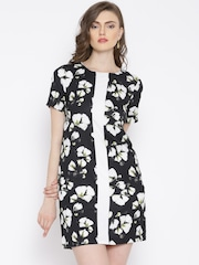Vero Moda Black Floral Print Shift Dress