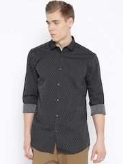 Jack & Jones Black Patterned Slim Casual Shirt
