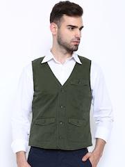 Jack & Jones Olive Green Waistcoat